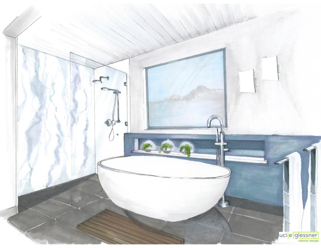 Residential_ Bath Hand Rendering